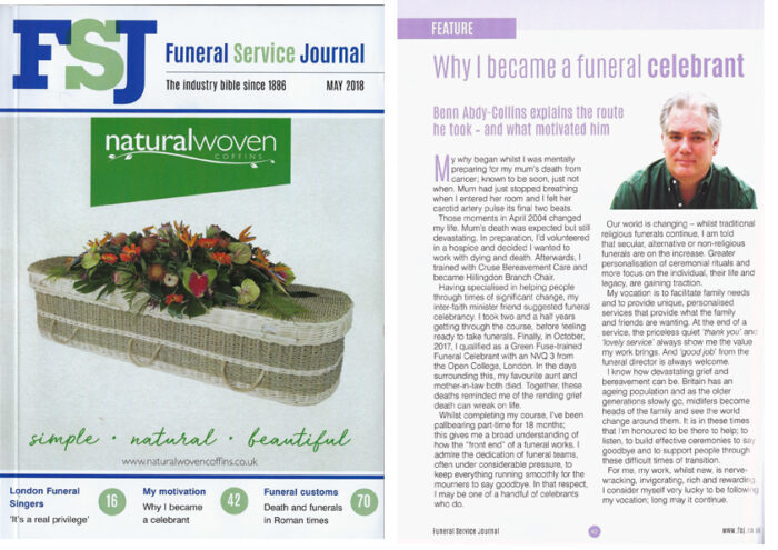 Why I became a funeral celebrant